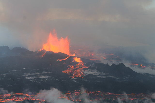 Eruption in Holuhraun lava field on September 4th, 2014
